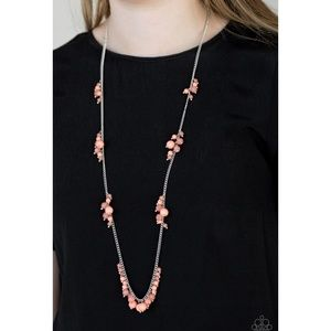 Coral Reefs Long Necklace and Earrings